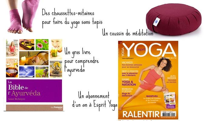 des cadeaux de yoga pour moins de 30 euros