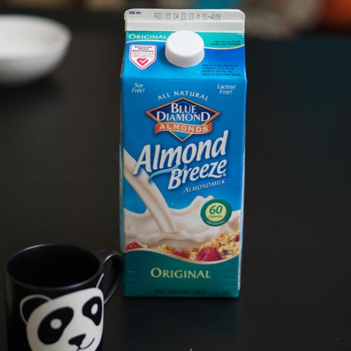 Petit dej healthy le lait d'amande