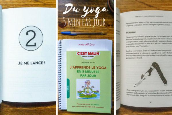 5 jours de yoga par jour